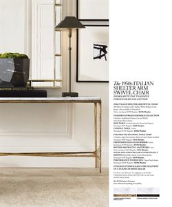 Lamp deals in the Restoration Hardware weekly ad in New York