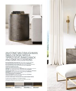 Cushions deals in the Restoration Hardware weekly ad in New York