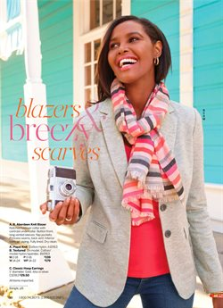 Scarf deals in the Talbots weekly ad in New York