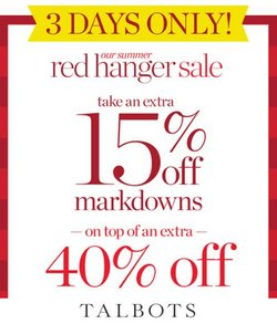 Talbots deals in the Talbots catalog ( Expires today)