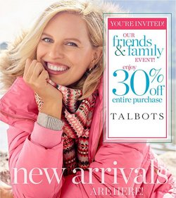Clothing & Apparel deals in the Talbots catalog ( Published today)