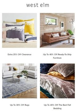 Home & Furniture deals in the West Elm catalog ( Published today)