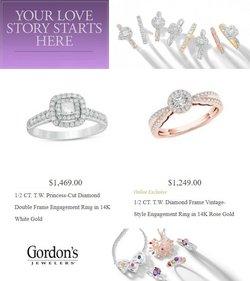 Gordon's Jewelers deals in the Gordon's Jewelers catalog ( 4 days left)