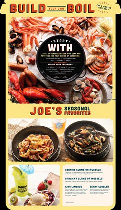 Joe's Crab Shack deals in the New York weekly ad