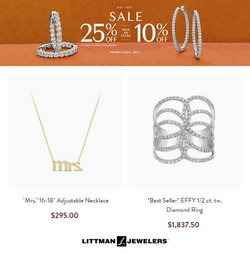Jewelry & Watches deals in the Littman Jewelers catalog ( Published today)
