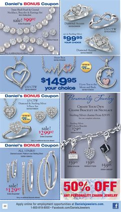 Necklace deals in the Daniel's Jewelers weekly ad in Los Angeles CA