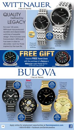 Watch deals in the Daniel's Jewelers weekly ad in Fullerton CA