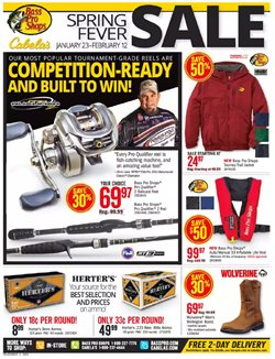Sports deals in the Bass Pro weekly ad in Peoria IL