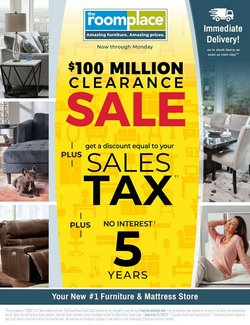 Home & Furniture deals in the The Room Place catalog ( 2 days left)