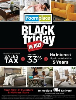 Home & Furniture deals in the The Room Place catalog ( 8 days left)