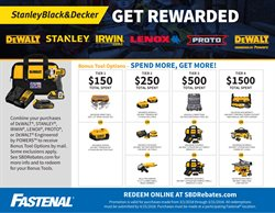 Fastenal deals in the Houston TX weekly ad