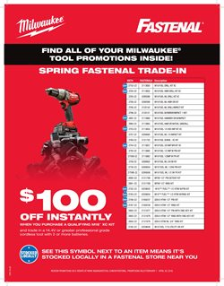 Tools & Hardware deals in the Fastenal weekly ad in Hot Springs National Park AR