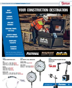 Ladder deals in the Fastenal weekly ad in La Puente CA