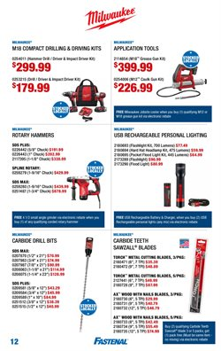 Milwaukee deals in the Fastenal weekly ad in Schenectady NY