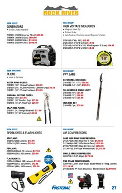 Generator deals in the Fastenal weekly ad in San Antonio TX