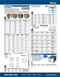 Sheds deals in the Fastenal weekly ad in New York