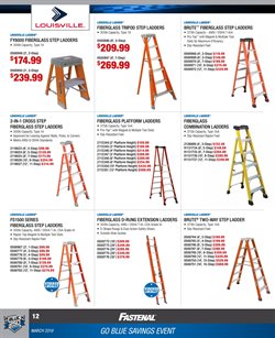 Ladder deals in the Fastenal weekly ad in New York