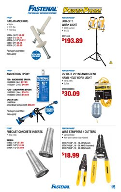 Nails deals in the Fastenal weekly ad in Minneapolis MN