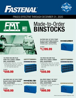Fastenal catalog ( More than a month)