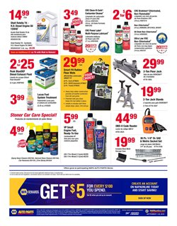 Exhaust deals in the Napa weekly ad in New York