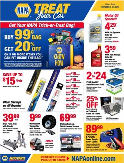 Automotive deals in the Napa weekly ad in New York