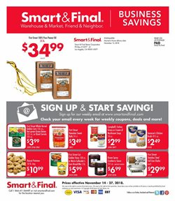 Corn deals in the Smart & Final weekly ad in Lodi CA