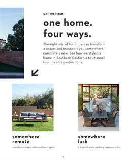 Furniture deals in the Living Spaces weekly ad in Ontario CA