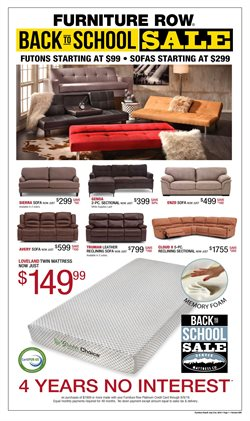 Home & Furniture deals in the Furniture Row weekly ad in Erie PA