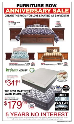 Furniture deals in the Furniture Row weekly ad in Erie PA