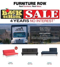 Furniture Row deals in the Furniture Row catalog ( Expires today)