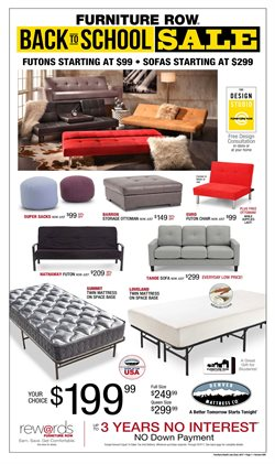 Furniture Row deals in the Denver CO weekly ad