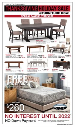 Furniture Row deals in the Huntsville AL weekly ad
