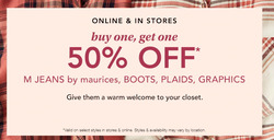 Maurices coupon ( 4 days left )