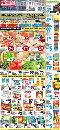 Pasta deals in the Pioneer Supermarkets weekly ad in New York