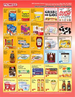 Plates deals in the Pioneer Supermarkets weekly ad in New York