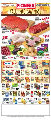 Dummy deals in the Pioneer Supermarkets weekly ad in New York