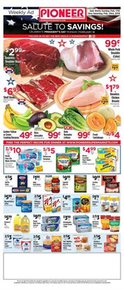 Lettuce deals in the Pioneer Supermarkets weekly ad in New York