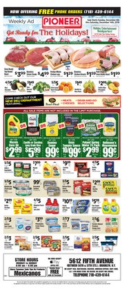 Pioneer Supermarkets deals in the Staten Island NY weekly ad