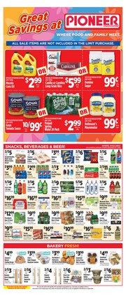 Domino deals in Pioneer Supermarkets
