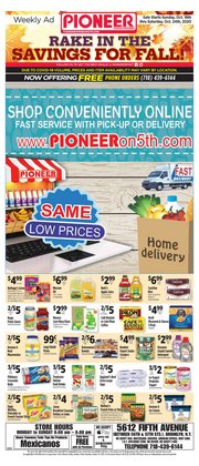Pioneer Supermarkets catalogue in New York ( 3 days left )