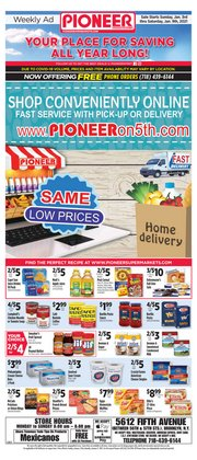 Pioneer Supermarkets catalogue in New York ( Expired )