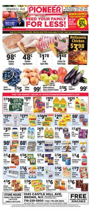 Pioneer Supermarkets catalogue in New York ( Expires today )