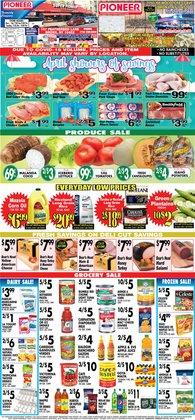 Pizza deals in Pioneer Supermarkets