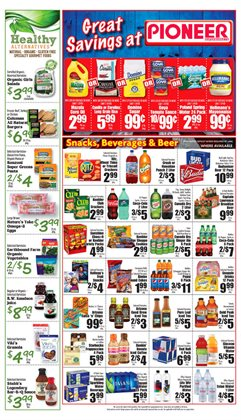 Budweiser deals in the Pioneer Supermarkets weekly ad in New York