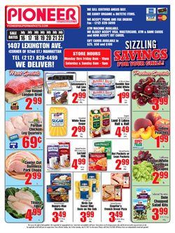 Sales deals in the Pioneer Supermarkets weekly ad in New York
