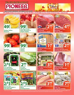 Bags deals in the Pioneer Supermarkets weekly ad in New York