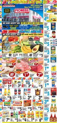 Shelving deals in the Pioneer Supermarkets weekly ad in New York