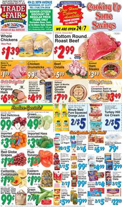 Beer deals in the Trade Fair Supermarket weekly ad in New York