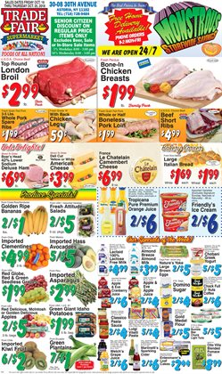 Tie deals in the Trade Fair Supermarket weekly ad in New York