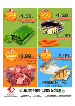 Grocery & Drug deals in the Seafood City catalog ( 3 days left)